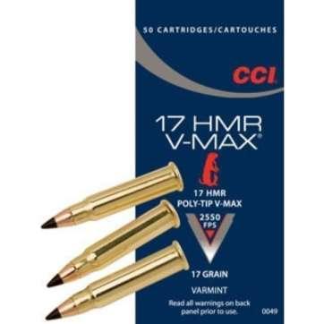 Cartouches .17 HMR CCI x50- site de l'armurerie TPC