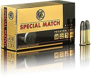 Cartouches .22LR RWS Special Match - site de l'armurerie TPC