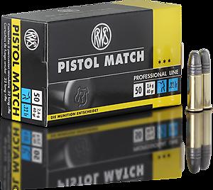 Cartouches .22LR RWS Pistol Match - site de l'armurerie TPC