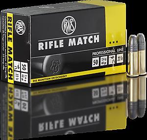 Cartouches .22LR RWS Rifle Match - site de l'armurerie TPC