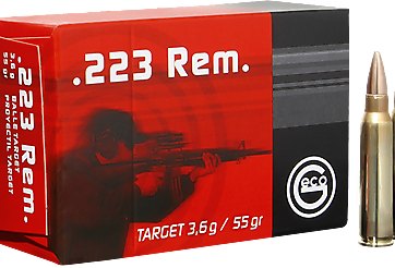Cartouches .223 REM GECO Target FMJ - site de l'armurerie TPC